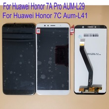 Russian Version 5.7'' For Huawei Honor 7C Aum-L41 LCD Display Touch Screen Digitizer Assembly Replace LCD With Frame Display