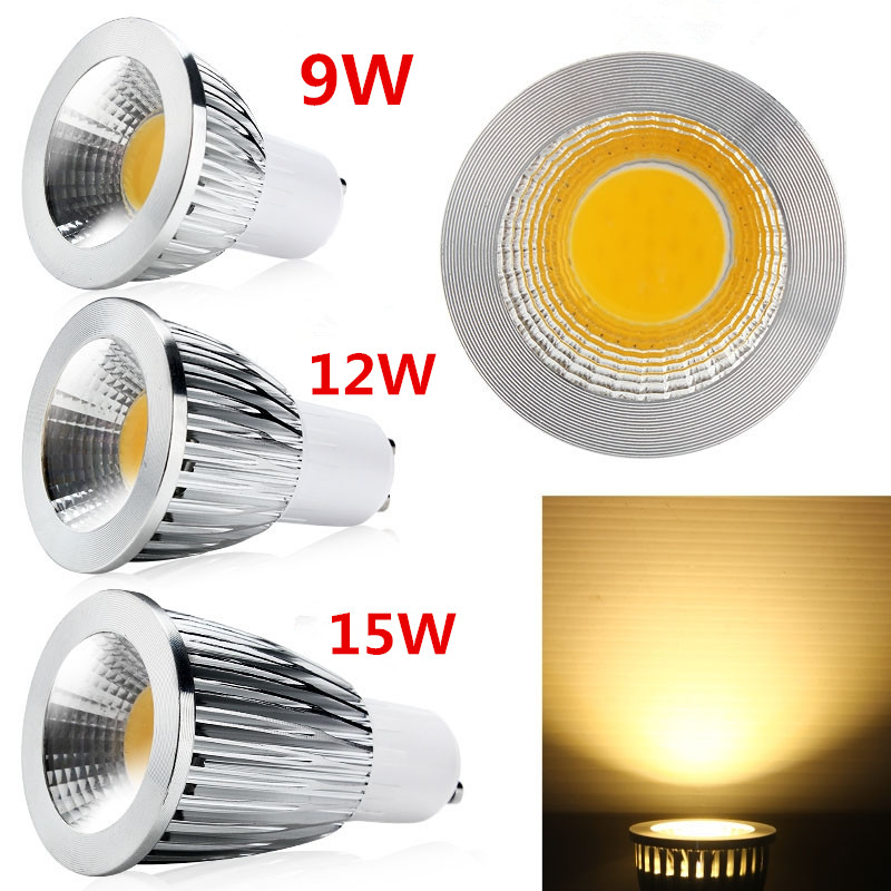 1 piece Dimmable 9W 12W 15W <font><b>GU10</b></font> <font><b>LED</b></font> <font><b>COB</b></font> Spotlight <font><b>led</b></font> downlight Bulb droplight light <font><b>led</b></font> lamp <font><b>led</b></font> Light lighting