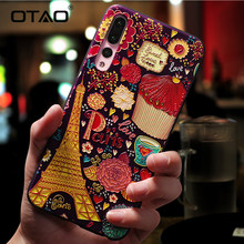 OTAO Luxury Cartoon Patterned Phone Case For Huawei P20 P10 P9 Lite Pro Cases Ultra-thin TPU Cover For Honor 8 9 10 Lite Mate 10(China)