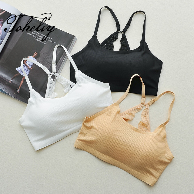 5a4b76c9fc14f New style Sexy The summer ice silk seamless bra strap beauty a chip short vest  type