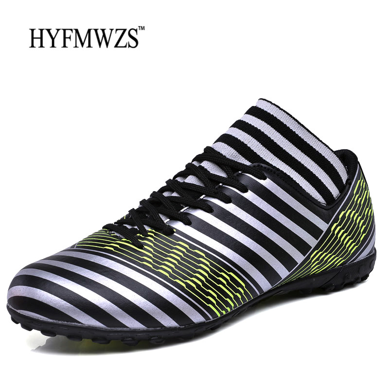 8b0d527e78f Detail Feedback Questions about HYFMWZS Personalized Zebra Pattern Superfly  Turf Indoor Football Shoes Men Non Slip Light Weight Men Soccer Shoes  Chuteiras ...
