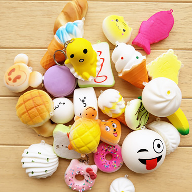 Funny Animal Cat Squishy Slow Rising Toys Antistress Ball Squeeze Fun Joke Soft Sticky Stress Relief Toy Phone Lanyard Cellphones & Telecommunications