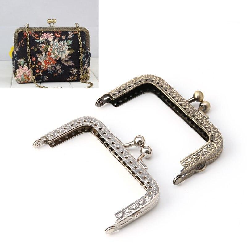 Швейная Сумочка, сумочка, монеты, сумки, металлическая застежка, рамка 8,2 см x 4,5 см
