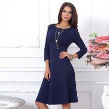 8438e4c043 Jesień dorywczo sukienka 2018 kobiety 3 4 rękaw Bodycon sukienek  odchudzanie elegancki Temperament jakości sukienka do kolan