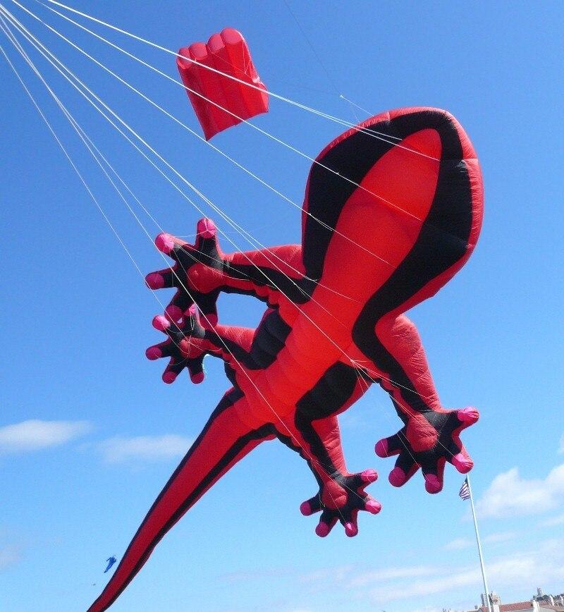 Nouveaux jouets 15 m énorme lézard logiciel cerf-volant nouveauté jouet cerfs-volants Gecko grand bon vol pour cadeau