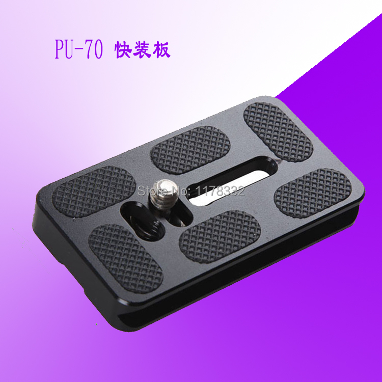 Exempt postage + tracking number PU-70 high quality Universal Quick Release Plate Bracket with 1/4 Screw for Benro B2 B3 V2 V3