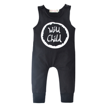 2019 Summer Lovely Newborn Baby Boys Girls Rompers Sleeveless Letter Jumpsuit Casual Outfit Infant Clothes