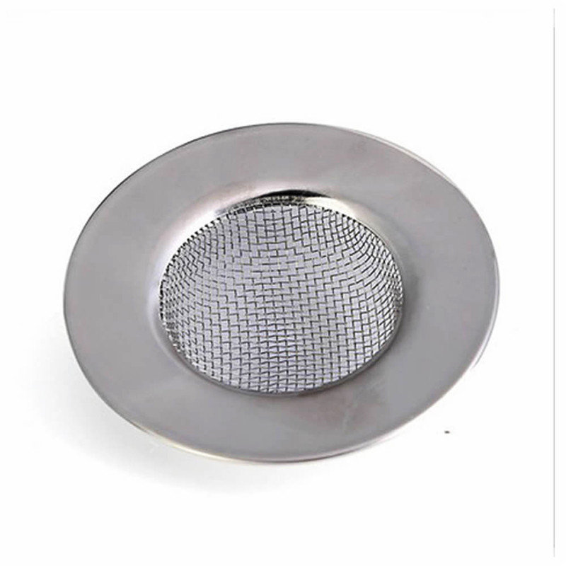 2 Pc Stainless Steel Mesh Sink Strainer Drain Stopper Trap Kitchen Bathroom New