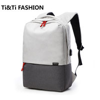 Original TUGUAN Simple Classic Backpack Charging Backpack Fashion Schoolbags High Capacity For 15 Inch Computers 17L