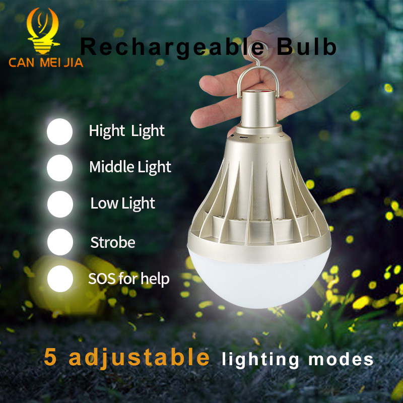 USB Rechargeable LED Bulb Light Dimmable 220V 12W 20W 30W 40W E27 Emergency Ampoule Led Lamp Outdoor Lighting For Fishing Camp