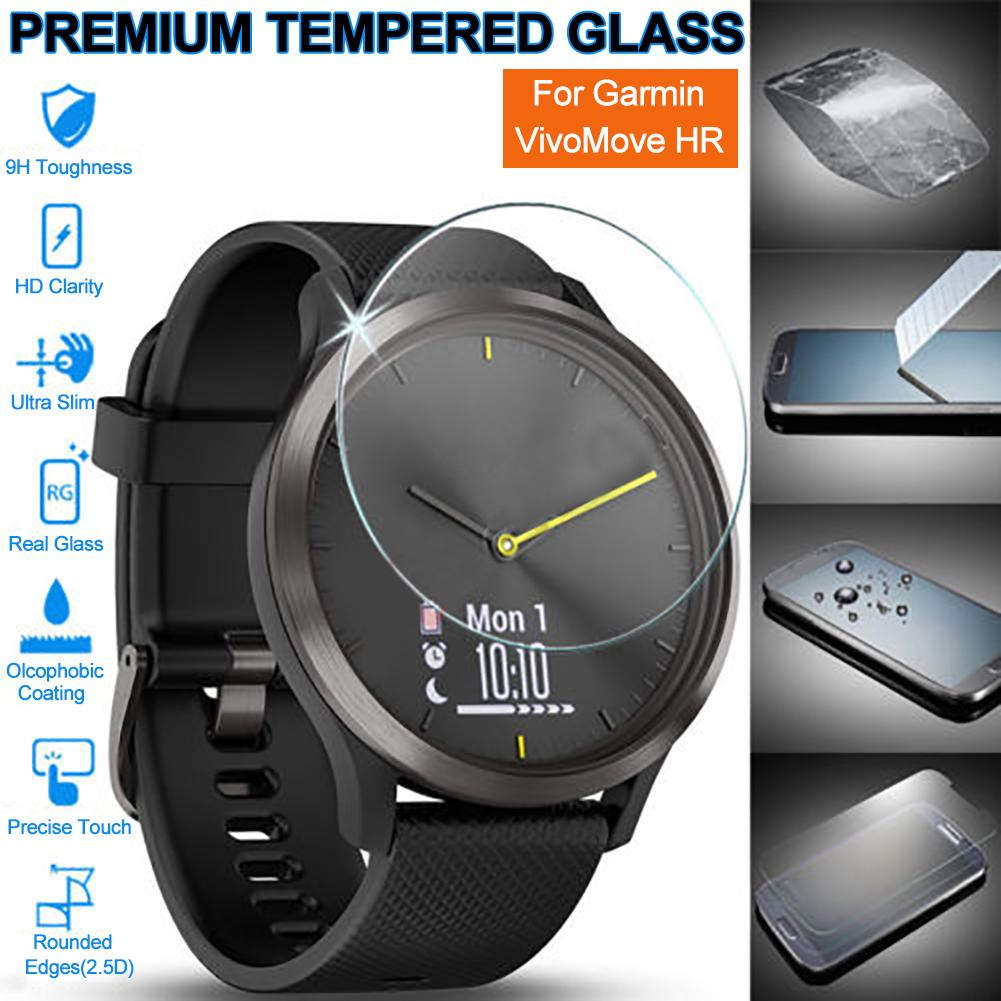Anti-Scratch Tempered Glass Screen Protector For Garmin Vivomove HR Sport Watch 9H