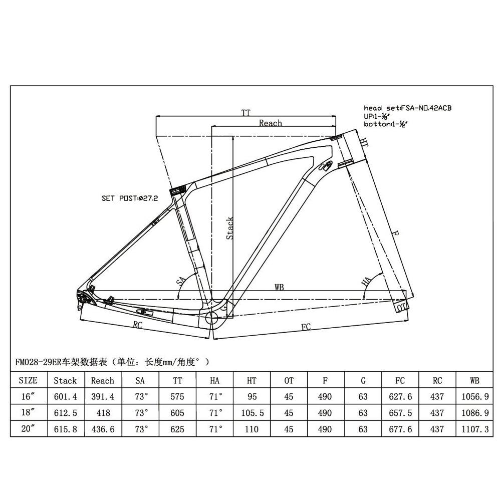 Aliexpress Com Buy 29er Fork Size Mtb Carbon Frame Mountain