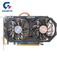 GIGABYTE WINDFORCE 2X Graphics Card GTX 750 Ti with NVIDIA GeForce gtx 750 ti GPU 2GB GDDR5 128 Bit Video Card for PC Used Cards