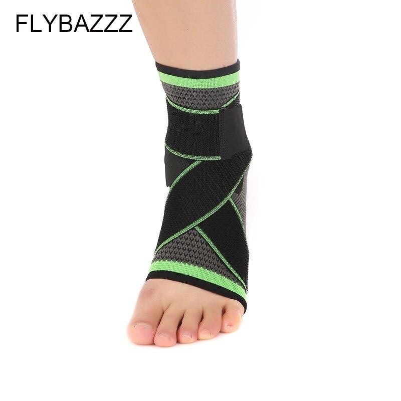 FLYBAZZZ 3D Weaving Elastic Nylon Strap Ankle Support Brace Badminton Basketball Football Taekwondo Fitness  Gym Heel Protector (4)