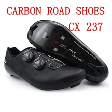 FULL-FEATURED COMPETITION SHOES OPTIMIZED FOR COMFORT AND PEDALING PERFORMANCE CYCLING CARBON SHOES FOR ROAD BIKE все цены