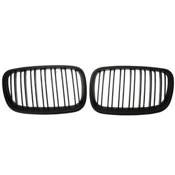 1 para samochodów przednia nerka Grille matowy czarny wyścigi maskownica do BMW X5 X5M X6 X6M E70 E71 08-13 Auto akcesoria samochodowe