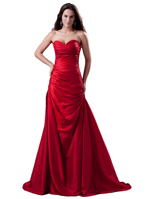 Online Shop 2017 Vestidos De Fiesta Red Long Mermaid Evening Dresses ...