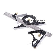 300 мм Профессиональный Плотницкий инструмент комбинированная квадратная угловая линейка из нержавеющей стальной транспортир Многофункциональный измерительный инструмент