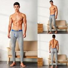 SEOBEAN rmen's long johns trousers tight plus velvet themal cotton solid legging separate long johns