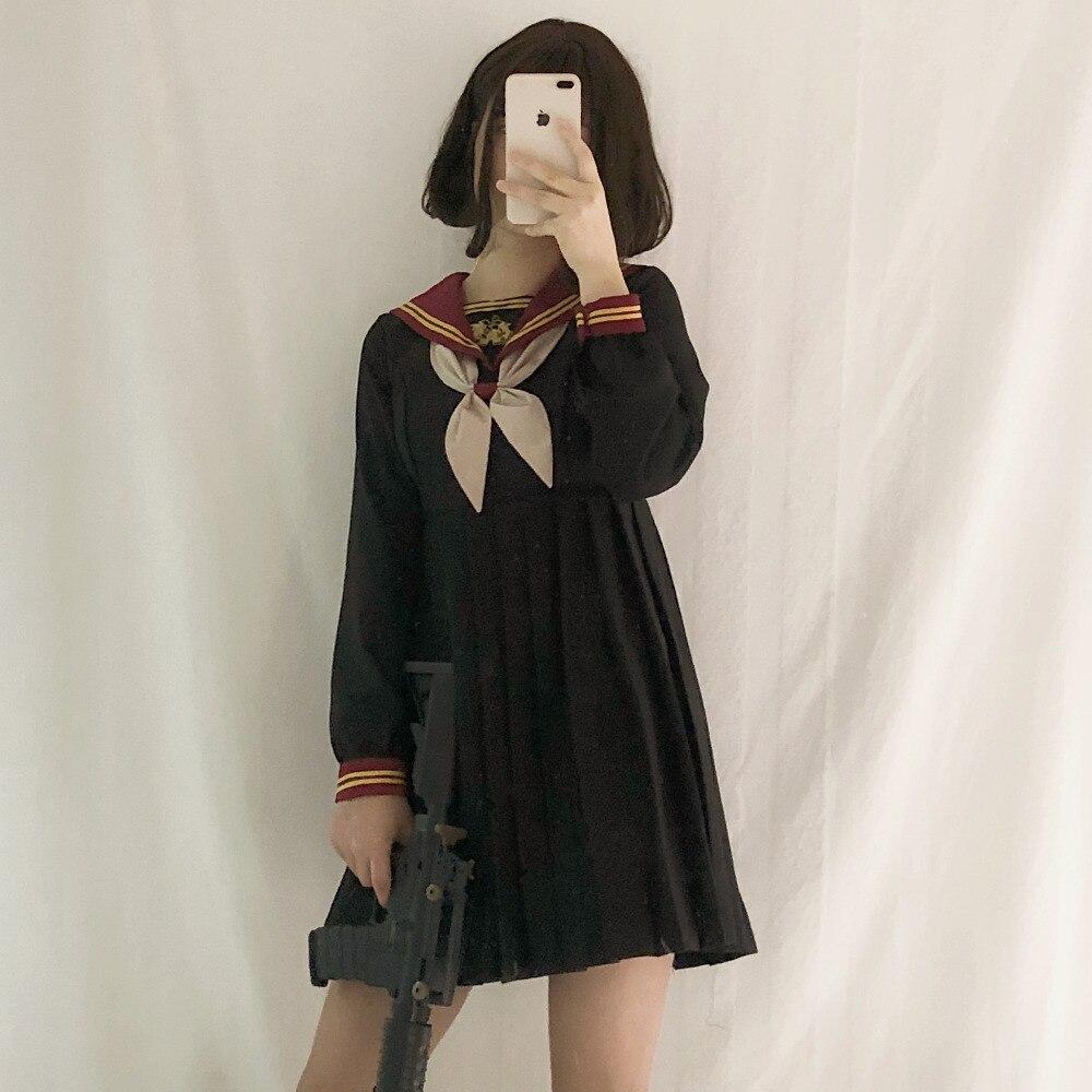 Uniforme scolaire japonais classe fille femme de chambre marin style marine Cosplay vêtements Escolar Japones Costume Dolly jupe mode robe complète