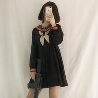 Japanese School Uniform Class Girl Maid Sailor Navy style Cosplay clothes Escolar Japones Costume Dolly Skirt Fashion Full dress