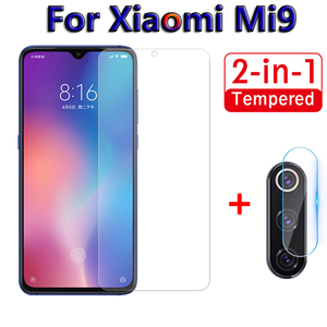 Image 1 - 2 in 1 Screen Protector Glass For Xiaomi Mi9 SE Mi 9 9se Camera Tempered Glass On For Xiaomi Mi9 se Back Lens Protective Film 9H