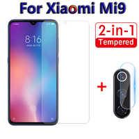 Vidrio Protector de pantalla 2 en 1 para Xiaomi mi 9 SE mi 9 9se cámara de vidrio templado para Xiaomi mi 9 se lente trasera película protectora 9H