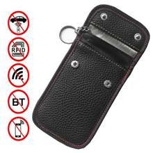 Чехол для автомобильных ключей чехол кошелек с защитой сигнала