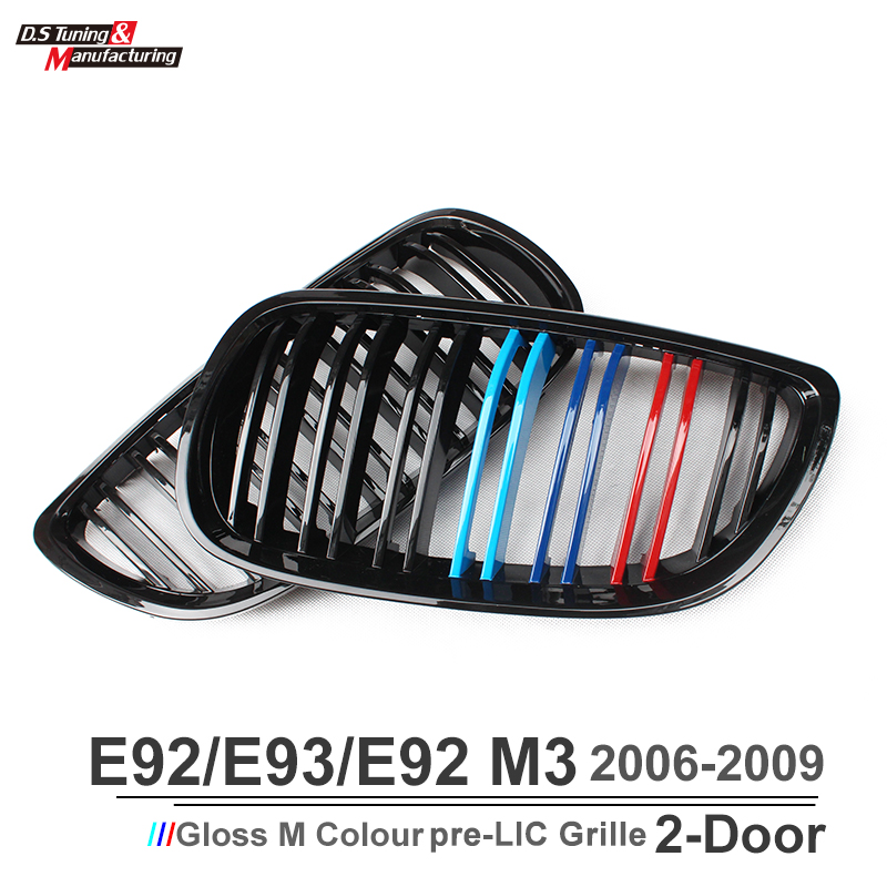 3 series e92 e93 e90 m3 e92 m3 e93 m3 front kidney grill grille m-color dual slat for bmw 3 series 2006 - 2009 кроссовки puma кроссовки ignite dual