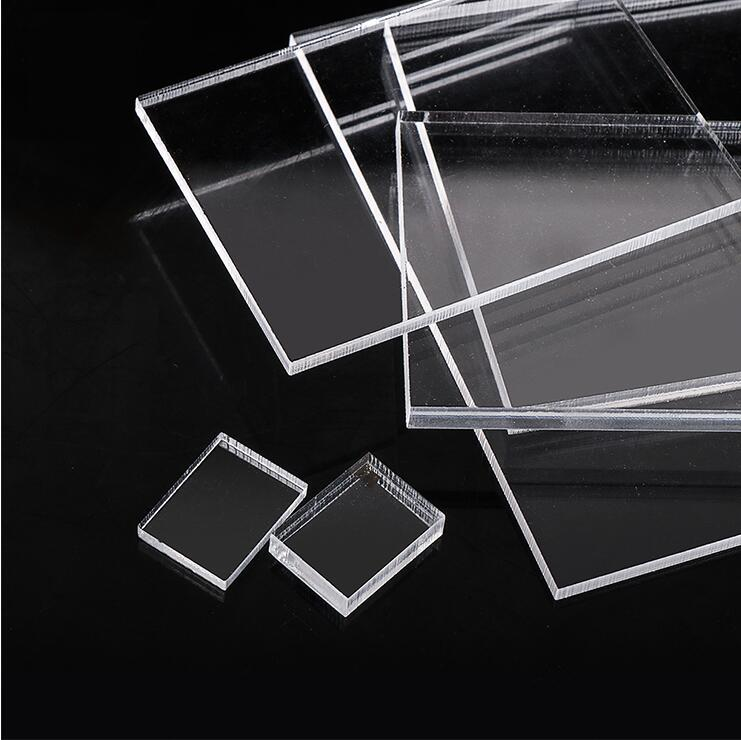 10pcs 1mm/2mm Thickness Clear Acrylic Perspex Sheet Cut Plastic Transparent Plexiglass Board
