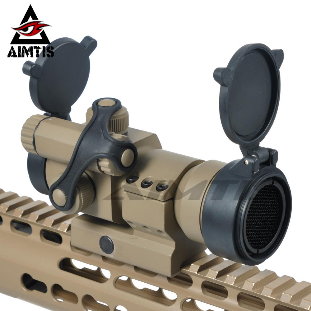 AIMTIS Hunting Scopes 1x32 Comp M2 Red Dot Sight with Killflash and Lens Cover fit 20mm Weaver / Picatinny Rail Mount hunting combo metal green dot laser sight led flashlight 200lm 3w with 20mm rail weaver picatinny for glock 17