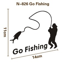 Здесь можно купить   GO FISHING PVC sticker on car for fishing lure tackle fishing reels brand new famous top quality wobble for cars Fishing
