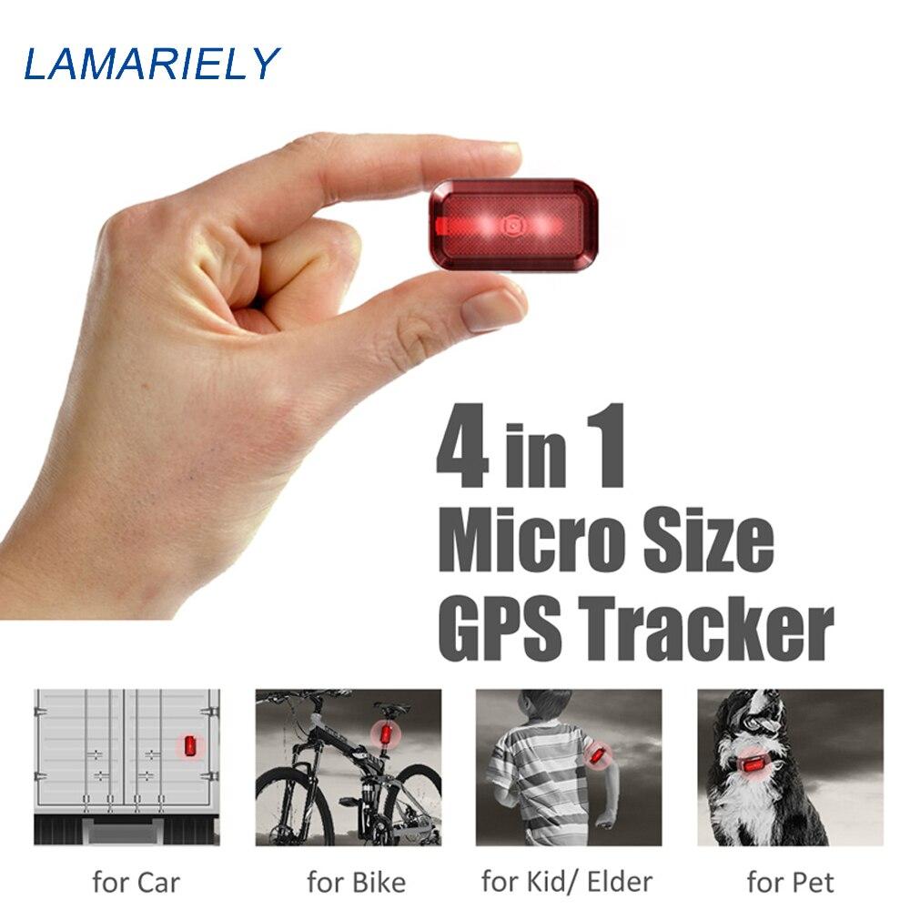 Mini GPS Tracker collier de chien enfants animaux de compagnie enfants vélos sac étanche suivi localisateur en veille 7 jours logiciel gratuit APP durée de vie