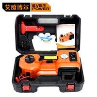 Everpower Электрический гидравлический домкрат подъемный инструмент 3 в 1 Набор 12 В 5,0 тонн весь набор инструментов для ремонта автомобиля компл