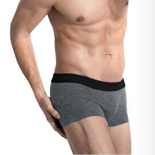 a9a4ffa63 Men underwear Boxer Shorts Male Sexy Normal Size Men Underwear Men Cotton  Boxers 2018 Men Tight Boxer Shorts Grey panties