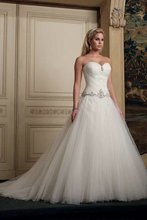 A-235 Free Shipping Tulle A-line Sweetheart Beadeds Flirty Wedding Dress 2012