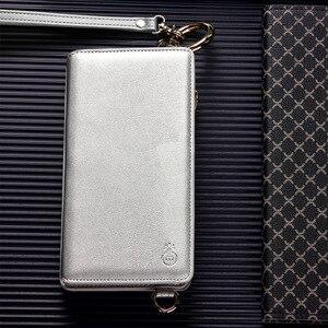 Image 5 - Musubo moda dziewczyna skórzany pokrowiec na iPhone SE 7 Plus luksusowa torba na telefon wyposażony pokrowiec na iphone 8 Plus 6 6s kobiet portfel Coque