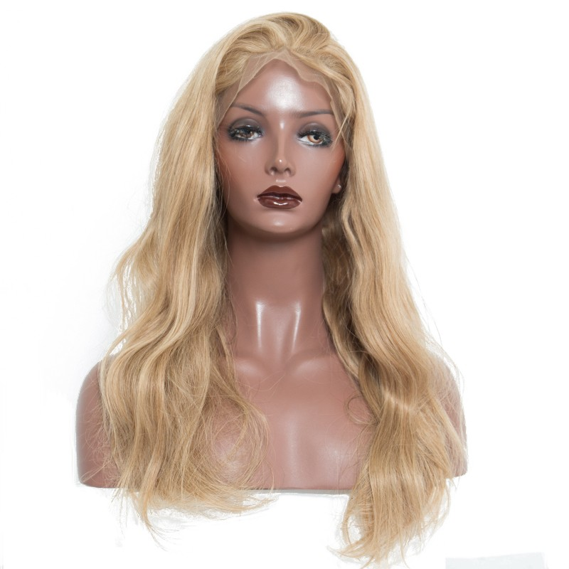 250 Density Honey Blonde Lace Front Human Hair Wigs For Women 27# Colored Body Wave Wig 13x4 Brazilian Lace Frontal Wig Remy