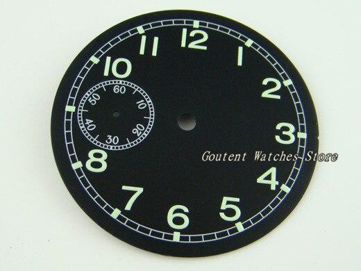00e68c091ad 38.9mm Parnis Mostrador Luminoso Kit ETA 6497 Movimento st36 Face do Relógio  Dos Homens