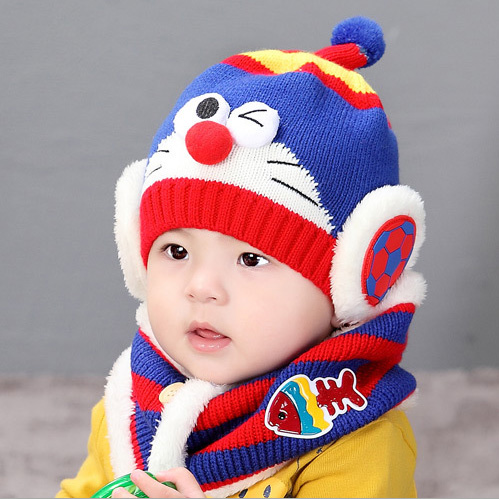 winter Robot hat   scarf set for Child Winter Baby thicker Warm Ear  Protection Hat Photography Props 2 piece  set-in Hats   Caps from Mother    Kids on ... 08c53c3fbc93