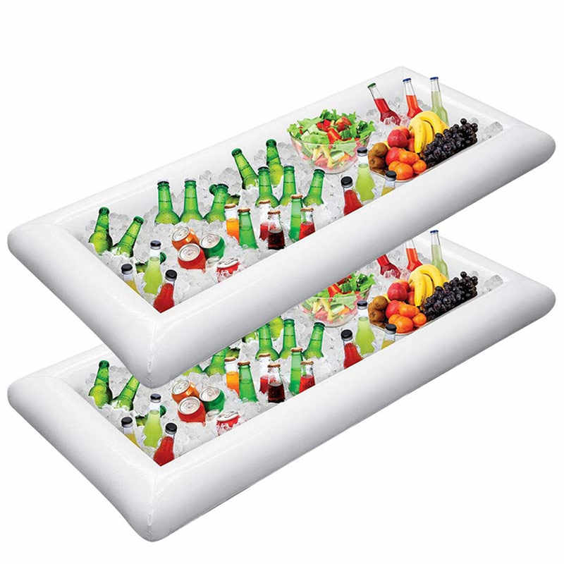 Inflatable Ice Prasmanan Salad Melayani Nampan Makanan Minuman Pemegang Cooler BBQ Piknik Pesta Kolam Renang Perlengkapan FH99