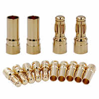 3000pair/lot by fedex dhl Connector plug 3.5mm Gold Bullet Banana Thick Gold Plated For ESC Battery Motor 20%Off