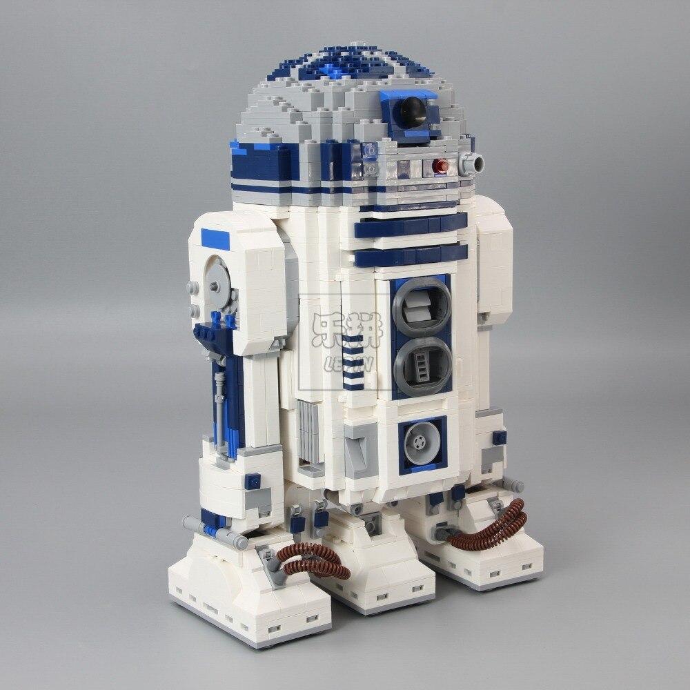 DHL 05043 véritable série d'étoiles le Robot R2 mis D2 hors impression blocs de construction briques jouets 10225