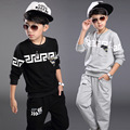 2016 New Autumn Spring Boy Set Thermal Children Tracksuit Kids Clothing Suit Boys Long-sleeved Shirt+trousers Suits For 3-12yrs