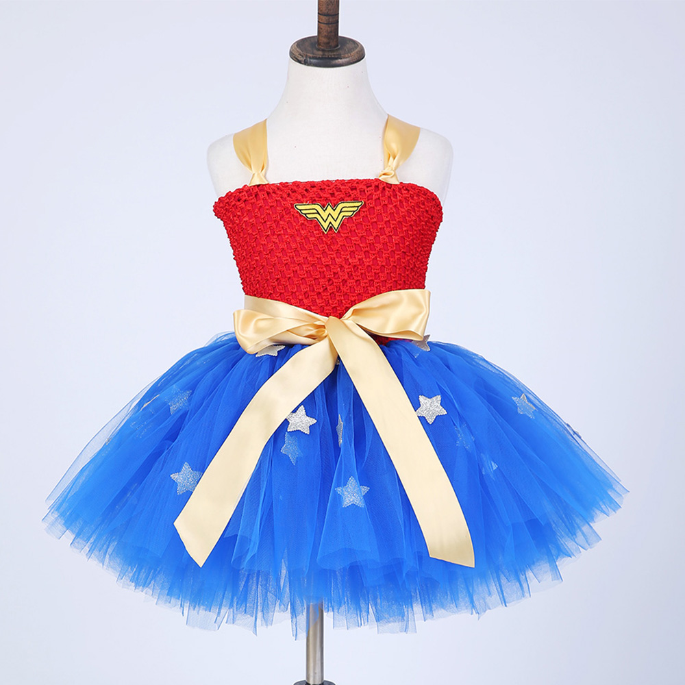 New Girls Fancy Dress Wonder Woman Cosplay Costume For -4208