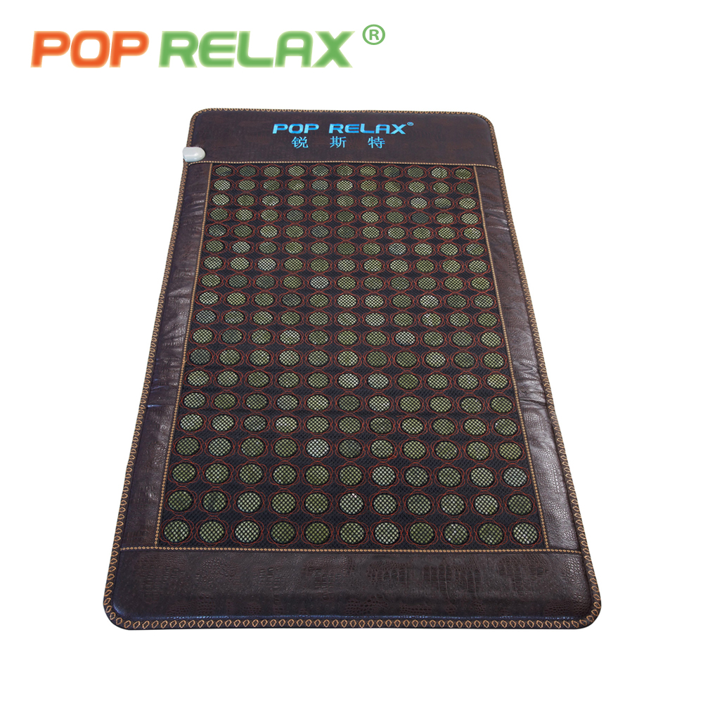 POP RELAX Korea health jade bed mattress electric heating pad mat jade stone sleep mattress far infrared thermal physiotherapy