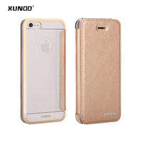 Xundd Luxury Case For iPhone SE 5 5S phone bags Ultra-thin PU Leather Cover Flip Case For iPhone 7 7 Plus with card slot