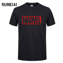 2017 new summer Marvel men t shirt short sleeve 100 cotton t shirt fashion hip hop