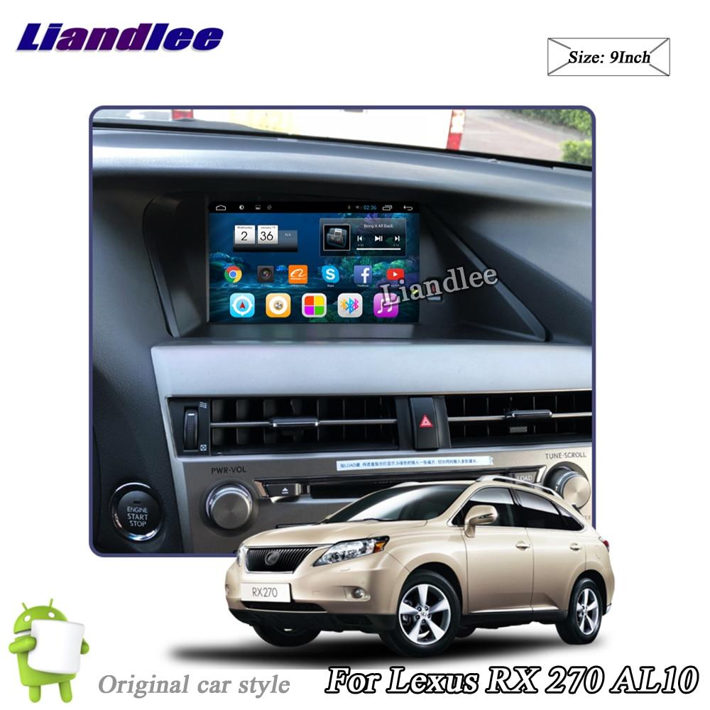 Liandlee Voiture Android Système Pour Lexus RX 270 RX270 AL10 2008 ~ 2015 Radio Stéréo Carplay GPS Wifi Navi CARTE navigation Multimédia