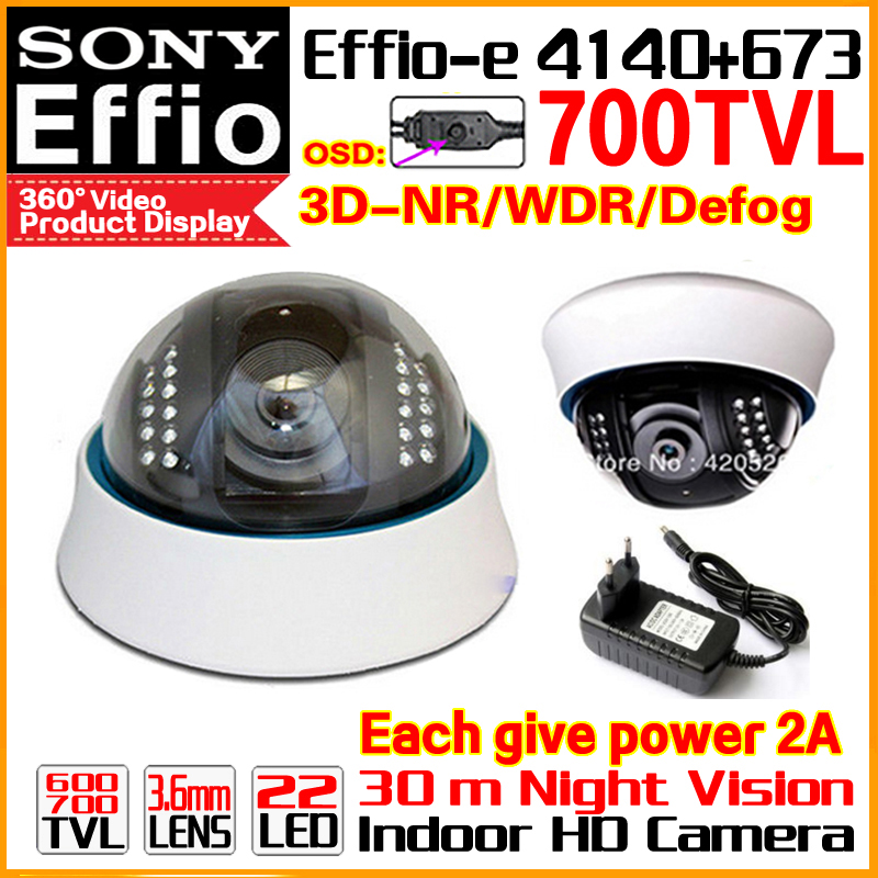 Limited 1/3Sony CCD Effio-e Real 700TVL Analog 960H Hd Cctv Dome Camera Infrared IR 22Leds Night Vision 30m OSD Meun Color Vide high quality metal indoor dome 1 3sony sensor ccd effio e real 700tv hd cctv camera waterproof infrared ir color home video osd